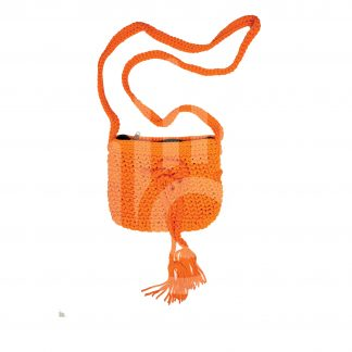 Orange Crochet Purse
