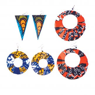 Crafts With Meaning_Handmade Ankara Fabric Earrings Set